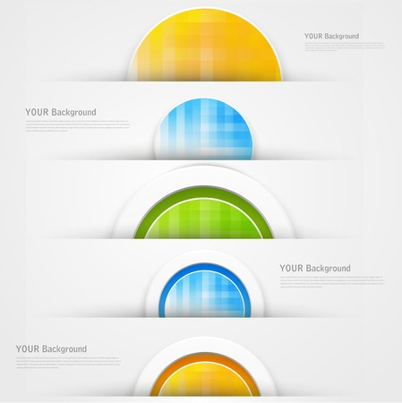 A set of modern banners with blue lines Vector