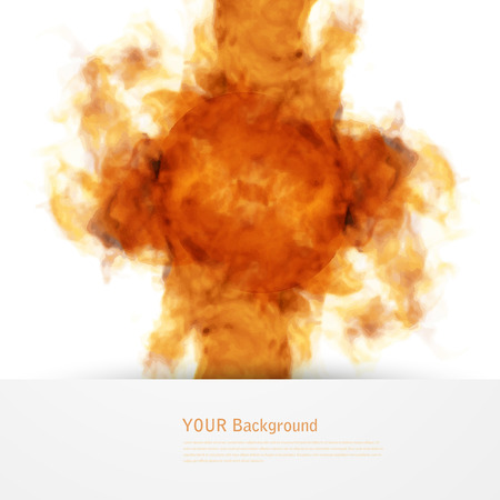worshiping: Vector fire. Floral Background with Smoke, Watercolor Texture.  Ink swirling huge explosion