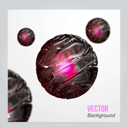Vector Abstract 3d sphere background. Business Abstract Sphere templates. Vector