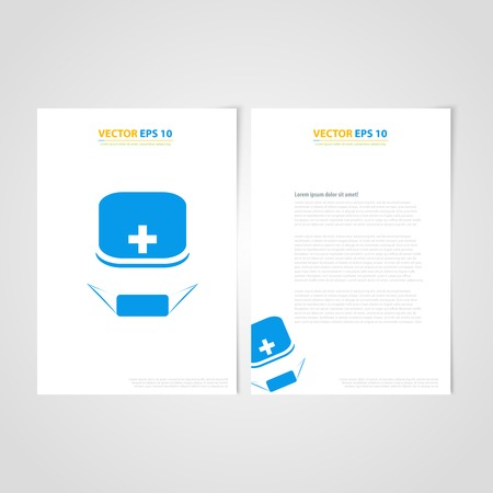 Flyer template back and front design. Brochure design templates collection with Medical Icons Vector