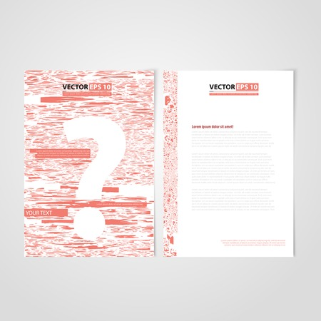 Flyer template back and front design. Brochure design templates collection with red paper Vector