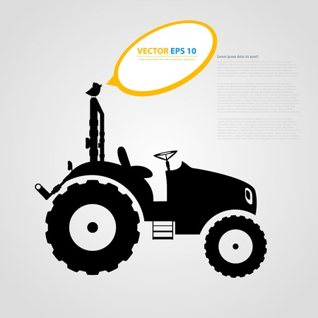 skid loader: tractor icons. Black auto silhouettes