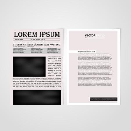 Flyer Template Back And Front Design Brochure Design Templates