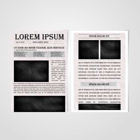 Flyer template back and front design. Brochure design templates collection with newspaper Vector