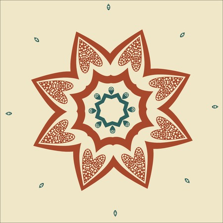 Vector Elegant background with lace ornament . Floral ornament eps 10 Vector