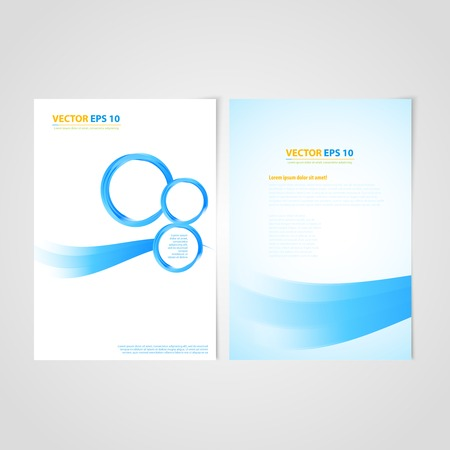 Flyer template back and front design. Brochure design templates collection with bubbles Vector