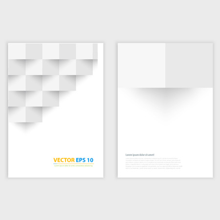 Flyer template back and front design Brochure templates collection with squares Vector