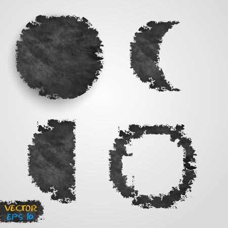 Vector Grunge template design. Banner design templates collection with circles Vector