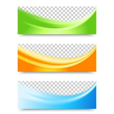 header: Flyer template header design. Banner design templates collection with waving