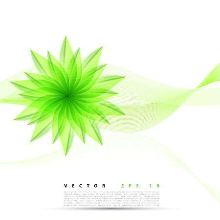 abstract background flower. Brochure design templates collection green Vector