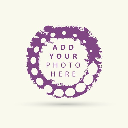 grunge pattern: Vector background with colored dots. Circles grunge pattern