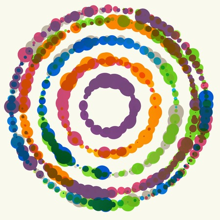 watercolor pen: Vector background with colored dots. Circles  pattern