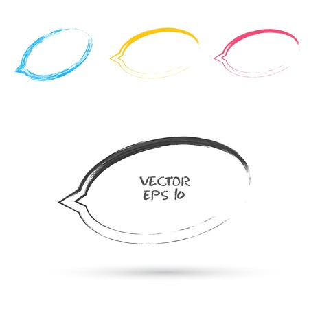 Vector sketch style of speech bubble icons. Design element Vector