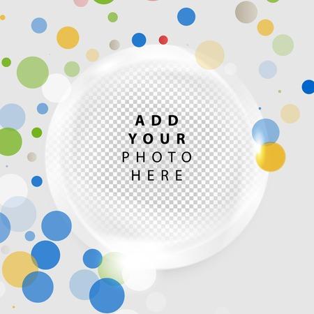 pearly: Vector Frame  circle. Brochure design templates collection