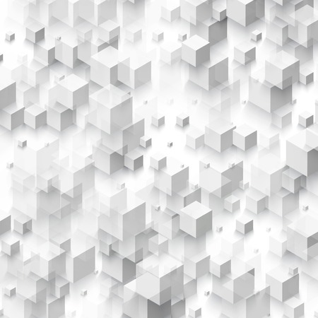 abstract cubes: Vector Abstract geometric shape from gray cubes.