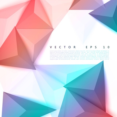 Vector background abstract polygon triangle. Ilustrace
