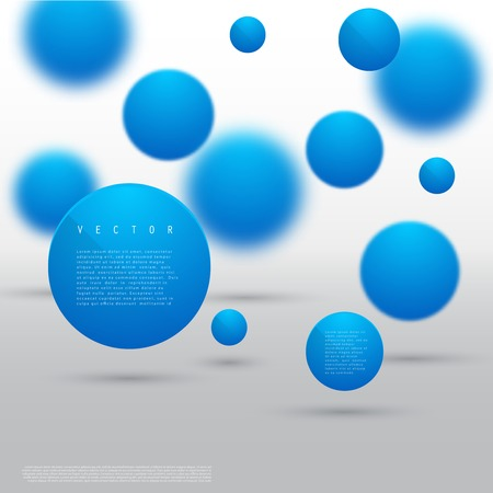 Vector Abstract geometric shape from blue circles.