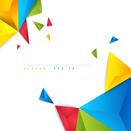 Vector color background abstract polygon triangle. Vector