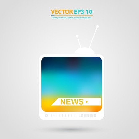 tv set: TV vector icon. Tv set with Isolated Illustration