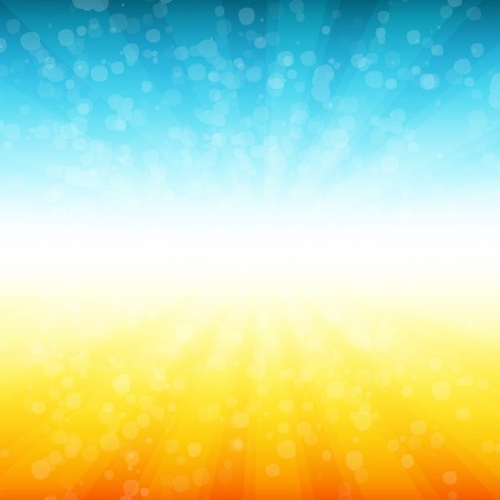 sun light: Vector Summer time background. Illustration