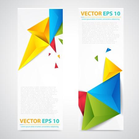 vertical image: Flyer template header design. Illustration