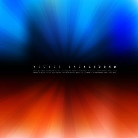 blue flame: Vector black background. Illustration