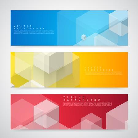 Flyer template header design. Illustration