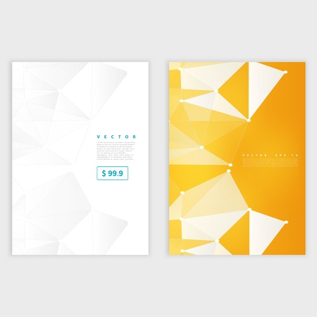 a4: Flyer template back and front design.