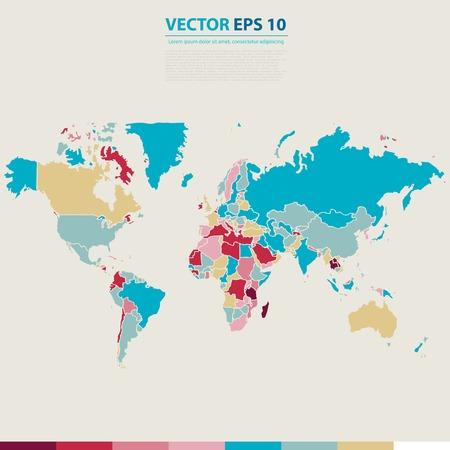 Vector Abstract Telecommunication Earth Map. Vector