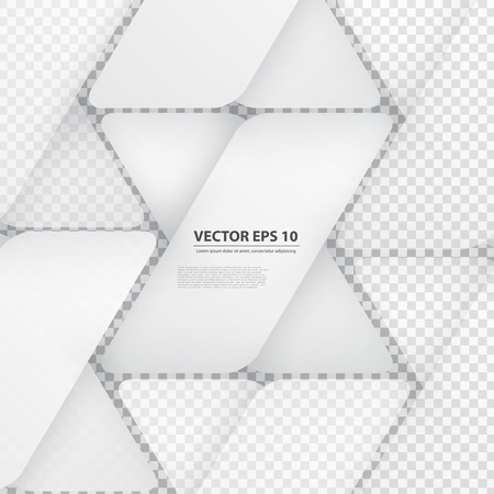 Vector design with triangles on the grey Vector