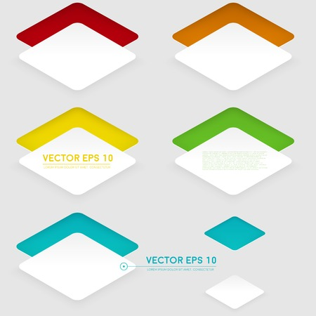 Vector design rhombus on the color Vector
