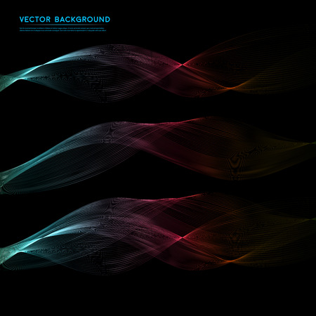 balck: Vector Abstract color waves design element.