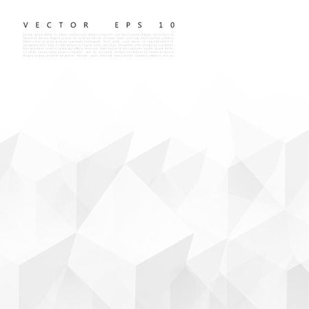 Vector Abstract geometric shape from gray cubes. Vector