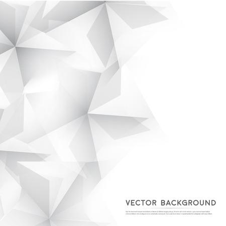 회색 큐브에서 벡터 추상적 인 기하학적 모양입니다. 일러스트