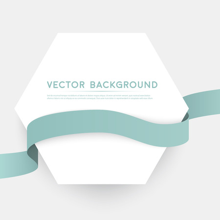 special events: Vector color ribbons isolated on white background