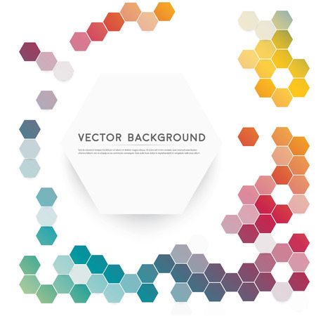 Vector abstract color 3d hexagonal Vector