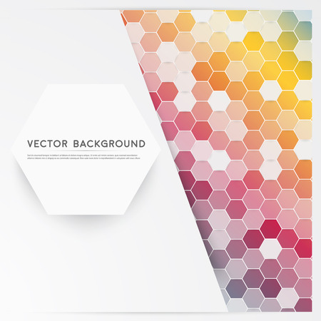 modern abstract design: Vector abstract color 3d hexagonal