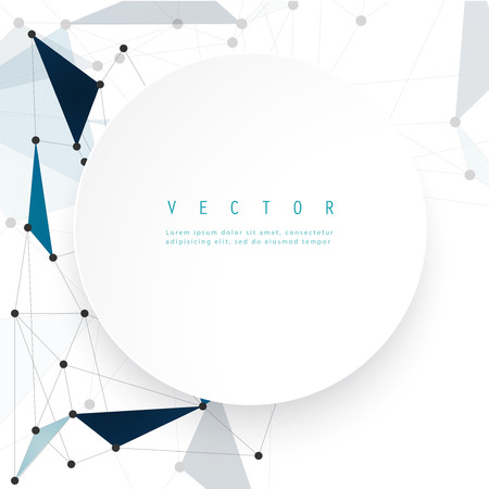 Vector network background abstract polygon triangle. Vector