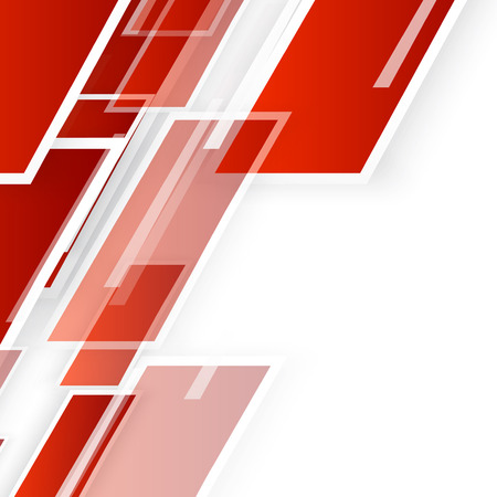 geometric shape: Vector Abstract geometric shape from red