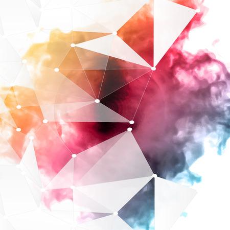 Vector color cloud. Illusztráció