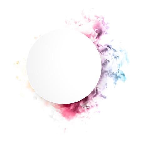 pink smoke: Vector color cloud. Illustration