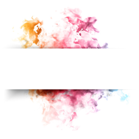 red smoke: Vector color cloud. Illustration