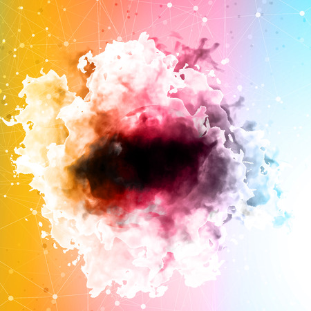 Vector color cloud. Floral Background with Smoke, Watercolor Texture.
