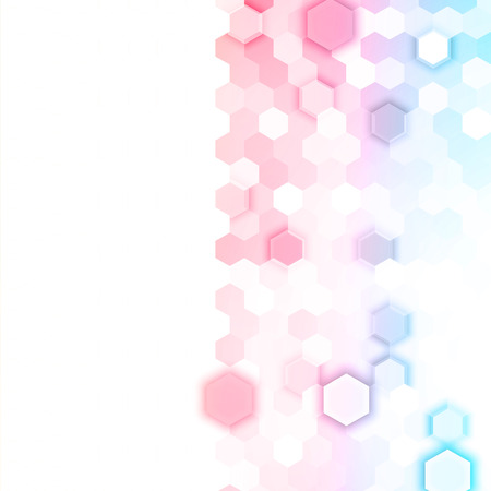 abstract pink: Vector abstract 3d hexagonal. Background with hexagon element Illustration