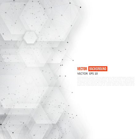 Vector abstract 3d hexagonal. Background with hexagon element 일러스트