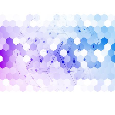communication: abstract 3d hexagonal.