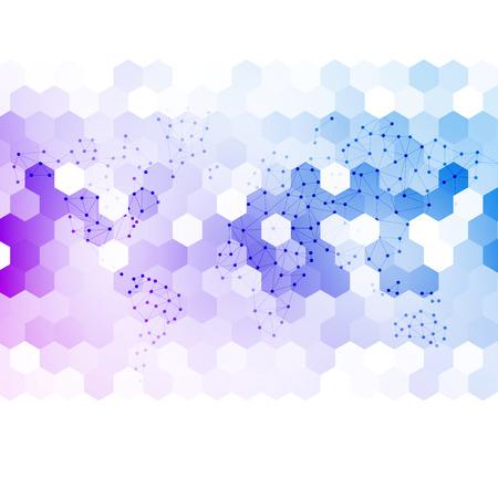 abstracte 3d zeshoekige.