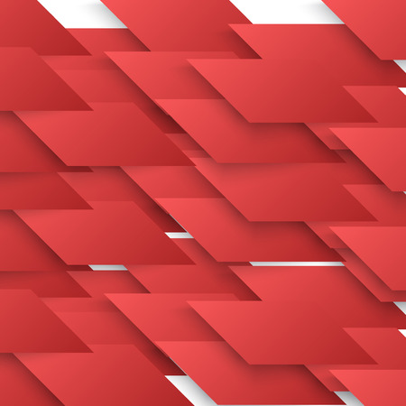 red shape: Vector Abstract geometric shape from red lines.