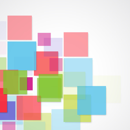 colours: Vector Abstract geometric shape from color squares Illustration