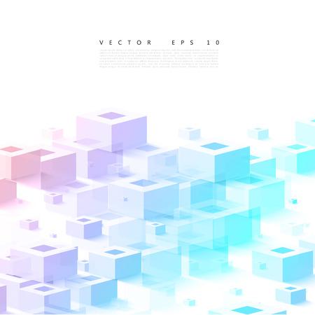 forme geometrique: Vector Abstract forme géométrique de cubes. carrés
